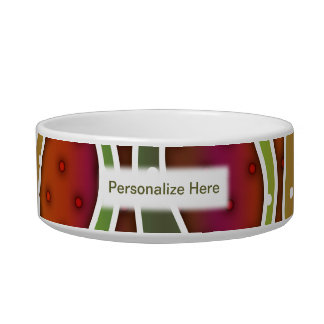Personalizable AUTUMN STRIPES SNACK or PET BOWLS