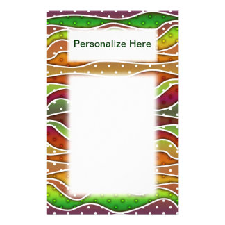 Personalizable AUTUMN STRIPES STATIONERY