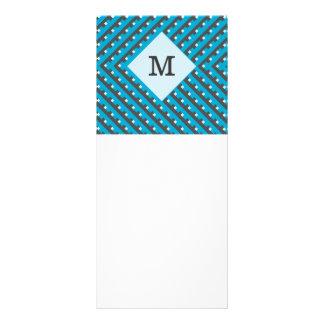 Personalizable azul de la rejilla del monograma lona personalizada