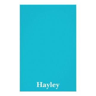 Personalizable azul del Caribe Papelería De Diseño