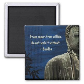 Personalizable azul del imán de Buda