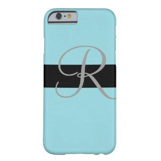 Personalizable azul en colores pastel funda de iPhone 6 barely there