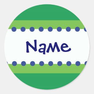 Personalizable azul y verde del pegatina del