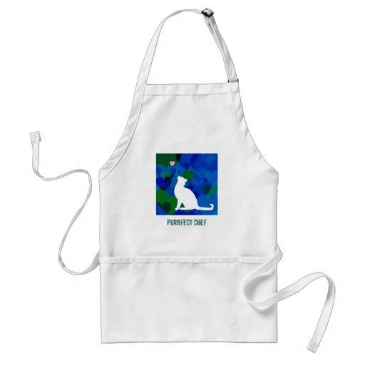 Personalizable: Azules del gatito Delantal