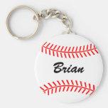Personalizable baseball keychains