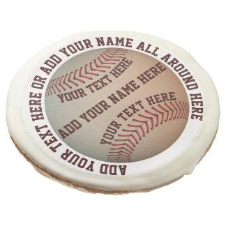 Personalizable Baseball Sugar Cookie