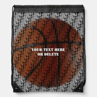 Personalizable Basketball Drawstring Backpacks
