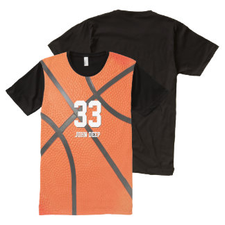 Personalizable Basketball Player No | Sport Gift All-Over-Print T-Shirt