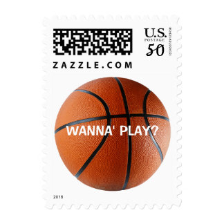 Personalizable Basketball Postage