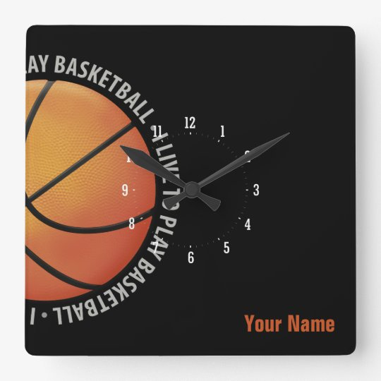 Personalizable Basketball | Sport Gifts Square Wall Clock