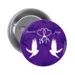 Personalizable: Besos de la paloma Pins