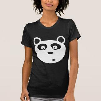personalizable blanco de la cara de la panda remera