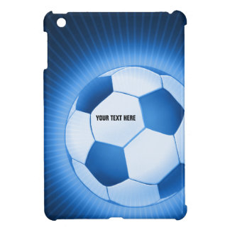 Personalizable Blue Soccer Football iPad Mini Cover For The iPad Mini