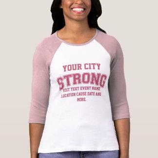 Personalizable Boston fuerte su ciudad Camiseta