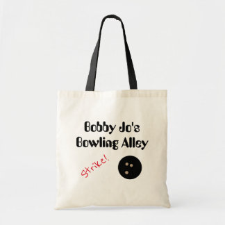 "Personalizable Bowling Alley ""Strike!"" with Ball Tote Bag"