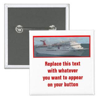 Personalizable Button-CIM1a del barco de cruceros Pin Cuadrado