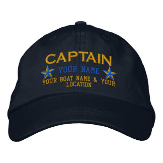 Personalizable Captain Stars Ball Cap Embroidery Embroidered Baseball Caps