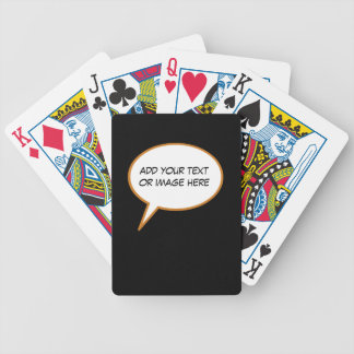 personalizable cartoon speech balloon bicycle playing cards