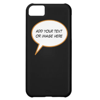 personalizable cartoon speech balloon cover for iPhone 5C