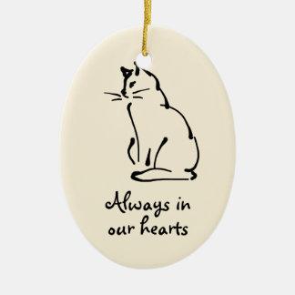 Personalizable Cat Memorial Ornament
