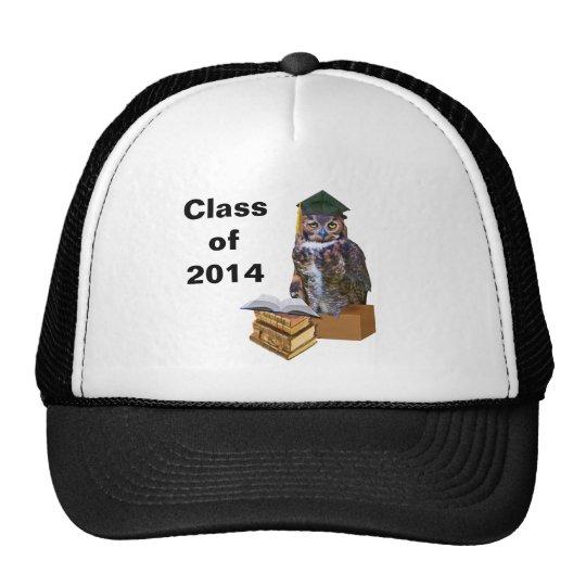 Personalizable chistoso 2014 del búho de la gradua gorros bordados