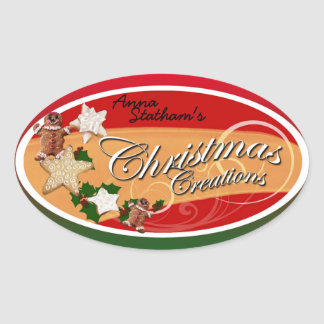 Personalizable Christmas Creations Label 1 Stickers