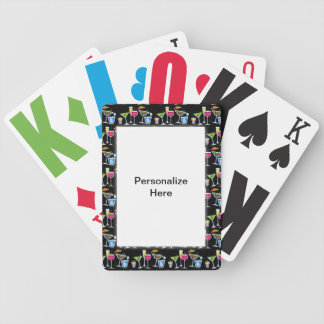 PERSONALIZABLE COCKTAIL GLASSES PLAYING CARDS