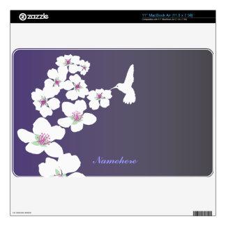 Personalizable: Colibrí y flor Calcomanías Para MacBook Air