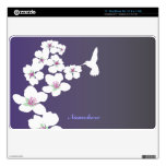 Personalizable: Colibrí y flor Calcomanías Para MacBook