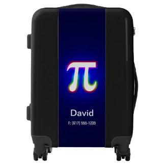 Personalizable | Colorful Glowing Pi Symbol Luggage