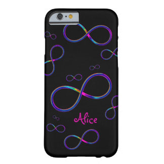 Personalizable Colorful Infinity  | Girly Case Barely There iPhone 6 Case