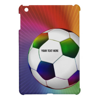 Personalizable Colorful Soccer Football iPad Mini iPad Mini Cover