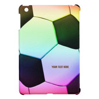 Personalizable Colorful Soccer Football iPad Mini iPad Mini Covers