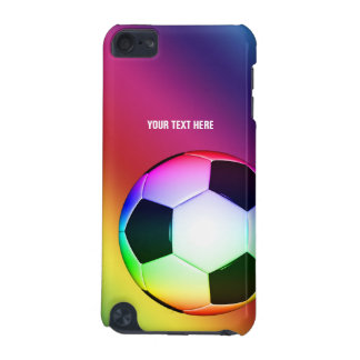 Personalizable Colorful Soccer | Football iPod Touch 5G Case
