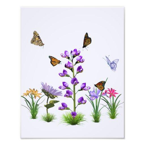 Personalizable colorido de la fantasía del jardín impresiones fotográficas