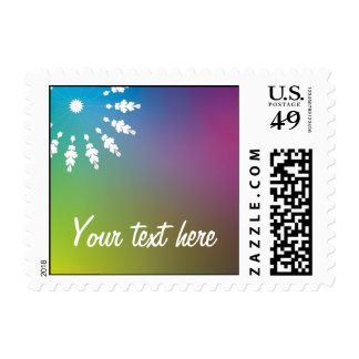 Personalizable colorido sellos postales