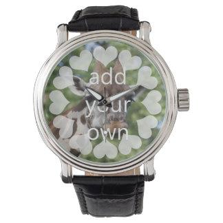 Personalizable con los corazones relojes de mano