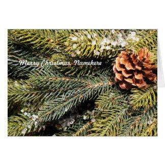 Personalizable Cono y árbol de abeto Tarjeta