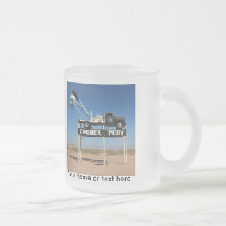 Personalizable Coober Pedy Outback Souvenir Frosted Glass Coffee Mug