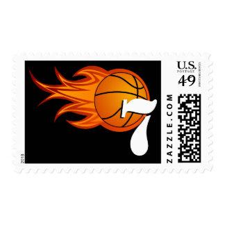 Personalizable Cool Basketball Postage