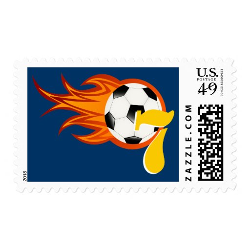 Personalizable Cool Football / Soccer Postage