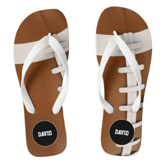 Personalizable Cool Rugby Sport Gift Flip Flops