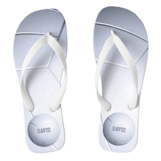 Personalizable Cool Volleyball Sport Gifts Flip Flops