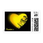 Personalizable: Corazón amarillo Envio