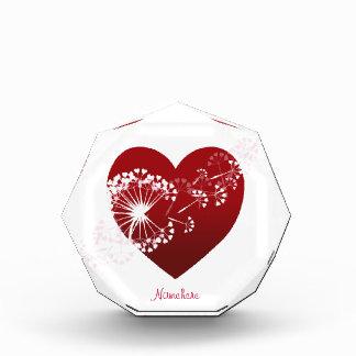 Personalizable: Corazón del amor del diente de leó