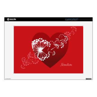 Personalizable: Corazón del amor del diente de leó Portátil Skin