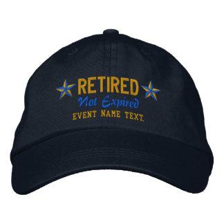 Personalizable corrige el bordado jubilado feliz gorra bordada