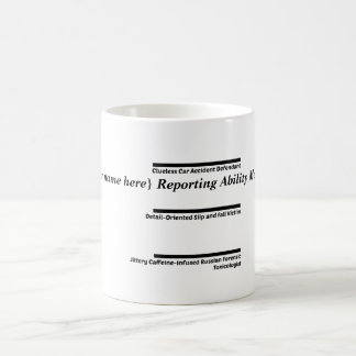 Personalizable Court Reporter's Coffee and Tea Coffee Mug