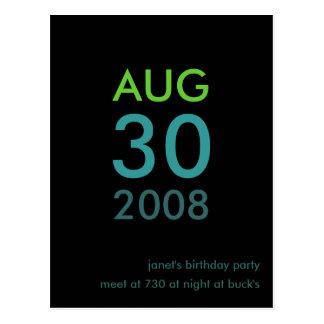 Personalizable - cumpleaños invite - invitación si tarjeta postal