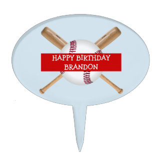 Personalizable Customizable Baseball theme Cake Topper